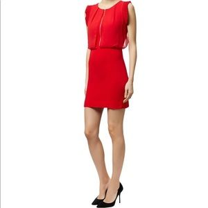 Sandro Rizzly Zip Front Red Dress